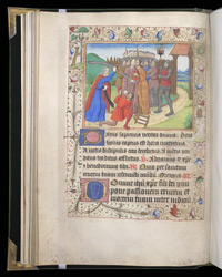 Half-Page Miniature Of The Betrayal And Arrest Of Christ, In A Book Of Hours